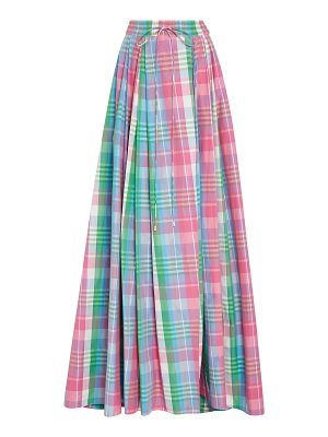 Ralph Lauren kimberley plaid cotton and silk-blend maxi skirt