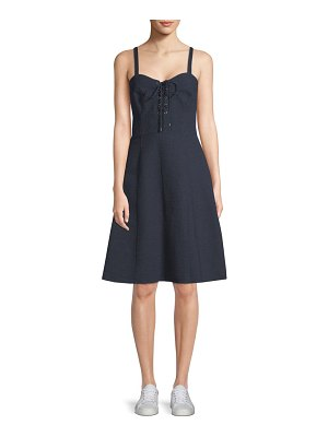 Ralph Lauren Linen Lace-Up Dress