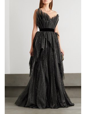 Ralph & Russo strapless embroidered tulle gown