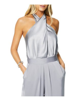Ramy Brook convertible stretch silk charmeuse top