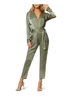 Ramy Brook crosby long sleeve satin jumpsuit