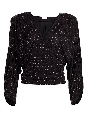 Ramy Brook esther studded faux wrap blouse