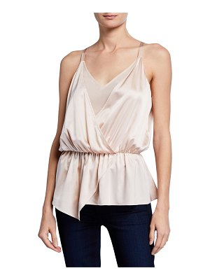 Ramy Brook Marisa Faux-Wrap Blouse