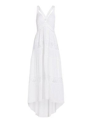 Ramy Brook melanie lace eyelet high-low a-line dress