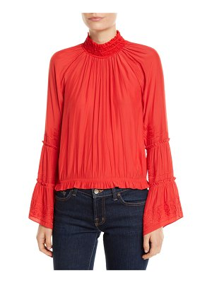 Ramy Brook Skye Embroidered High-Neck Top
