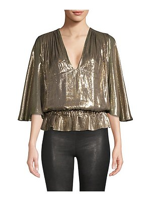 Ramy Brook tonya platinum popover metallic top