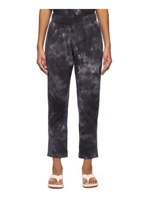 Raquel Allegra black tie-dye camo easy lounge pants