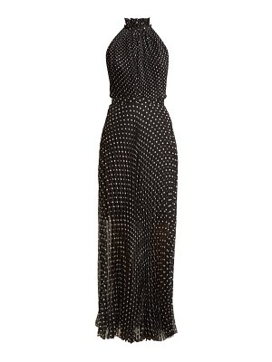 RAQUEL DINIZ giovanna pleated polka dot silk dress