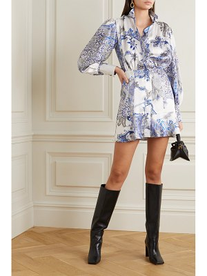RAQUEL DINIZ marella printed silk-satin mini dress