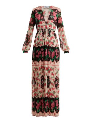 RAQUEL DINIZ valentina floral print pleated gown