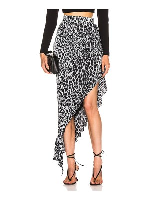 Rasario draped leopard midi dress