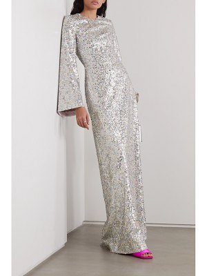 Rasario iridescent sequined tulle gown