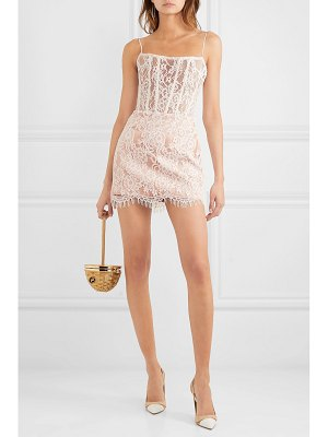 Rasario lace and tulle mini dress