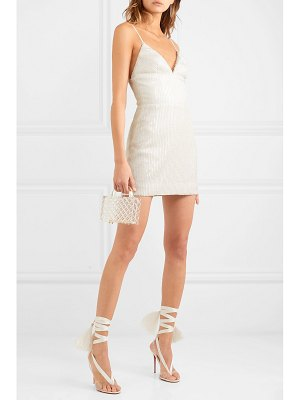 Rasario sequin and bead-embellished tulle mini dress