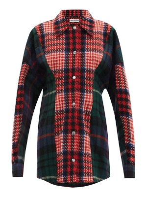 Rave Review siri upcycled checked-wool jacket