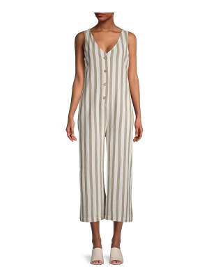 RD Style Stripe Cotton Cropped Jumpsuit