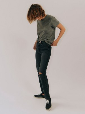RE DONE 70s stove pipe distressed jeans