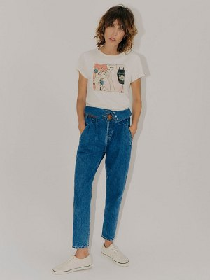 RE DONE 80s fold over jeans