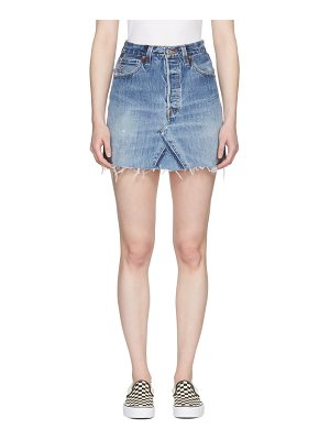 Re-done Re/Done  Levi's Edition High-Rise Denim Miniskirt