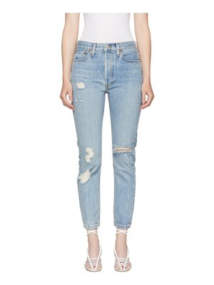 Re-done Re/Done  Originals High-Rise Straight Destroy Jeans