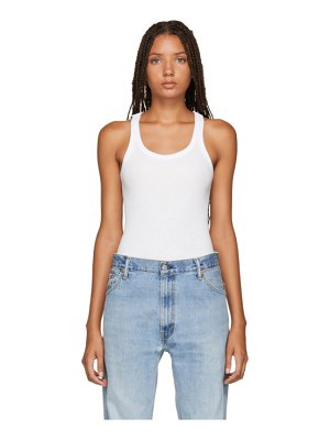 Re-done Re/Done  Ribbed Tank Bodysuit