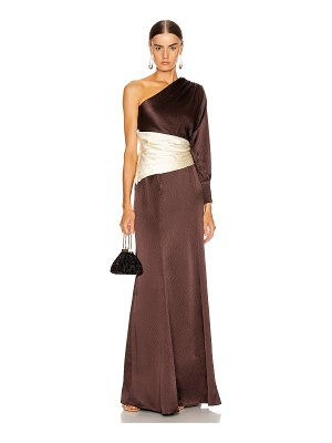 REBECCA DE RAVENEL one shoulder gown