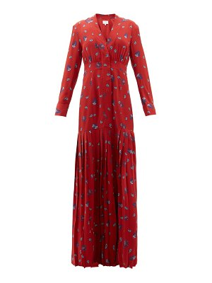 REBECCA DE RAVENEL paisley-print silk crepe de chine maxi dress