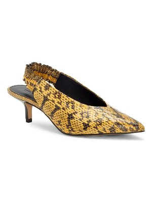 Rebecca Minkoff damona too genuine snakeskin pointed toe pump