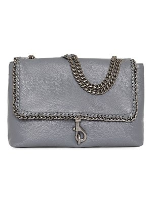 Rebecca Minkoff edie chain-trimmed leather shoulder bag