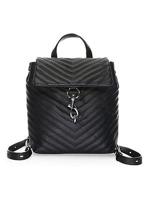 Rebecca Minkoff edie flap quilted leather backpack