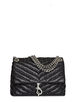 Rebecca Minkoff Edie Quilted Leather Stud Flap Shoulder Bag
