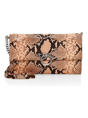 Rebecca Minkoff jean convertible python-embossed leather clutch