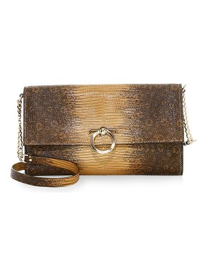 Rebecca Minkoff jean embossed leather convertible clutch