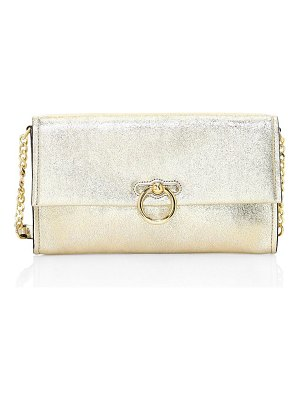 Rebecca Minkoff jean metallic leather convertible clutch
