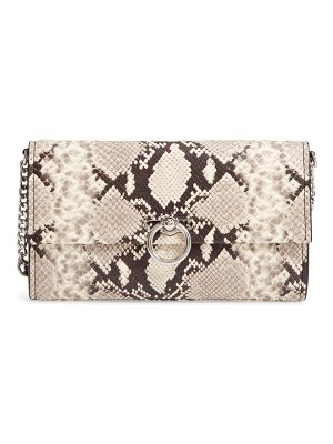 Rebecca Minkoff jean snake embossed leather clutch
