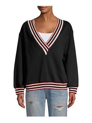 Rebecca Minkoff kristine striped trim sweatshirt