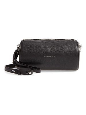Rebecca Minkoff leather barrel crossbody bag