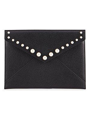 Rebecca Minkoff Leo Clutch Bag with Pearl Studs