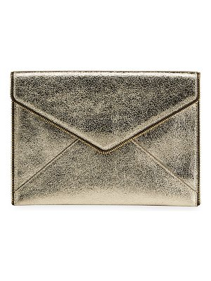 Rebecca Minkoff Leo Metallic Leather Clutch Bag