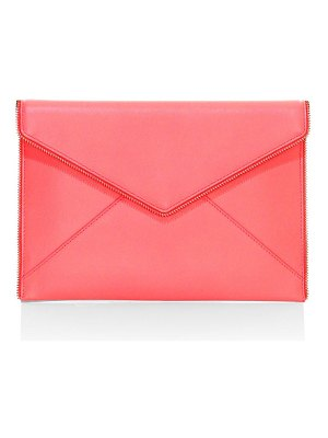 Rebecca Minkoff leo neon leather envelope clutch