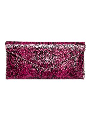 Rebecca Minkoff Leo Snake-Print Leather Clutch Bag