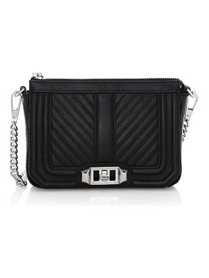 Rebecca Minkoff love chevron quilted leather shoulder bag