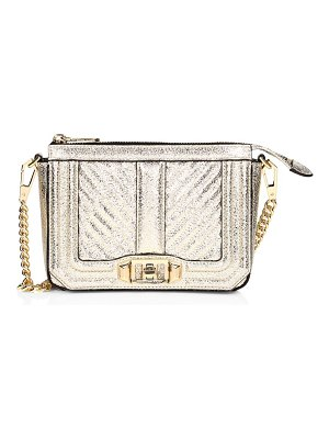 Rebecca Minkoff love chevron quilted metallic leather shoulder bag