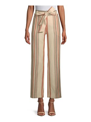 Rebecca Minkoff Molly Striped High-Rise Pants