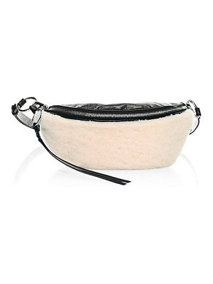 Rebecca Minkoff shearling & leather sling bag