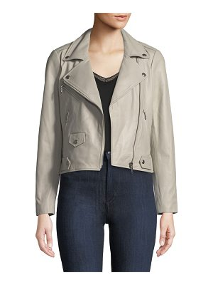 Rebecca Minkoff Wes Zip-Front Leather Moto Jacket