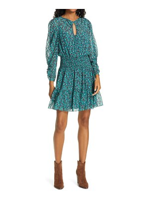 Rebecca Taylor climbing rose long sleeve silk blend dress