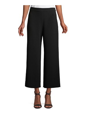 Rebecca Taylor Cropped Wide-Leg Crepe Pants