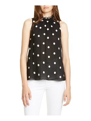 Rebecca Taylor dot embroidered sleeveless top