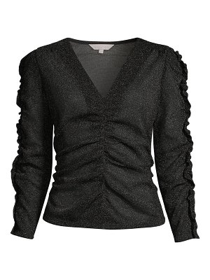Rebecca Taylor glitter ruched top